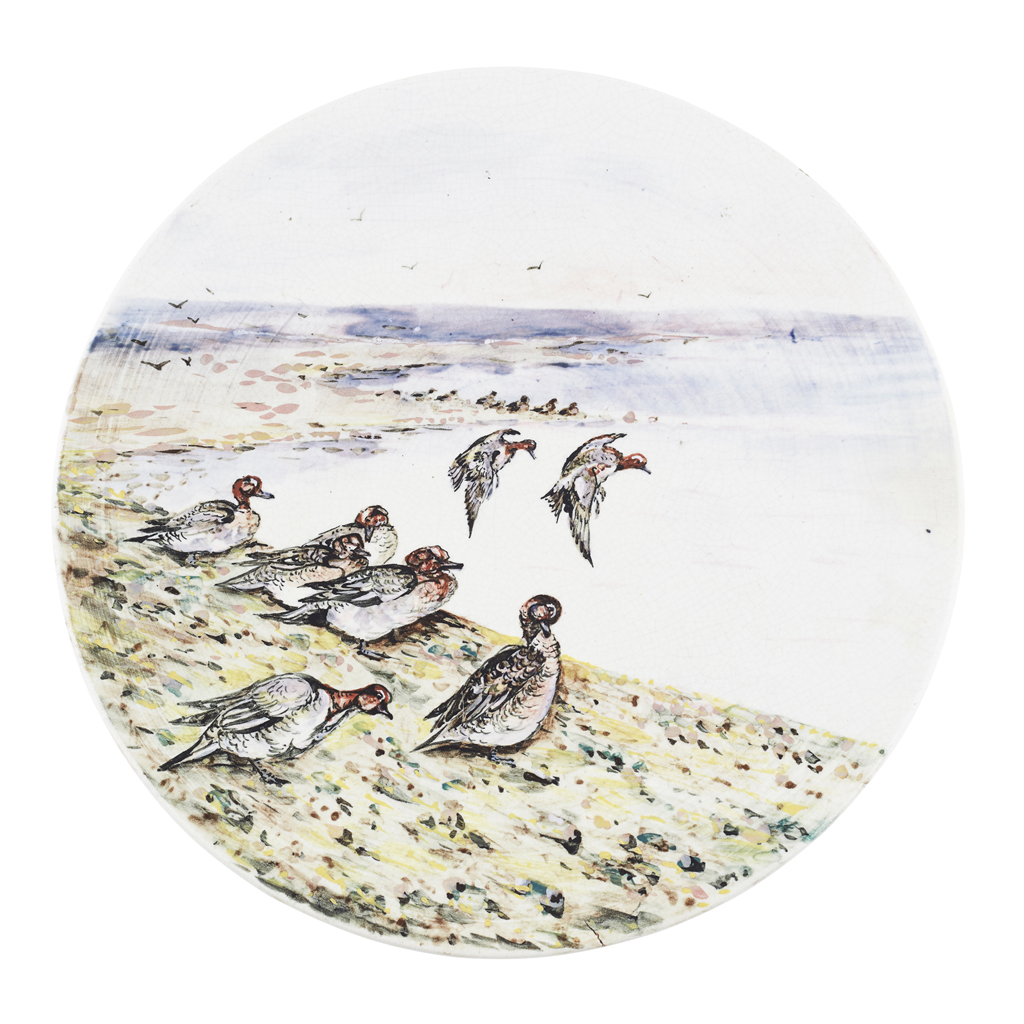 Lot 154-A RARE WEMYSS WARE 'WIDGEON' PLATE