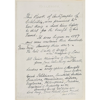 Lot 218-AUTOGRAPH ALBUM FROM H.B. WATSON OF HARLESDEN, FALKIRK