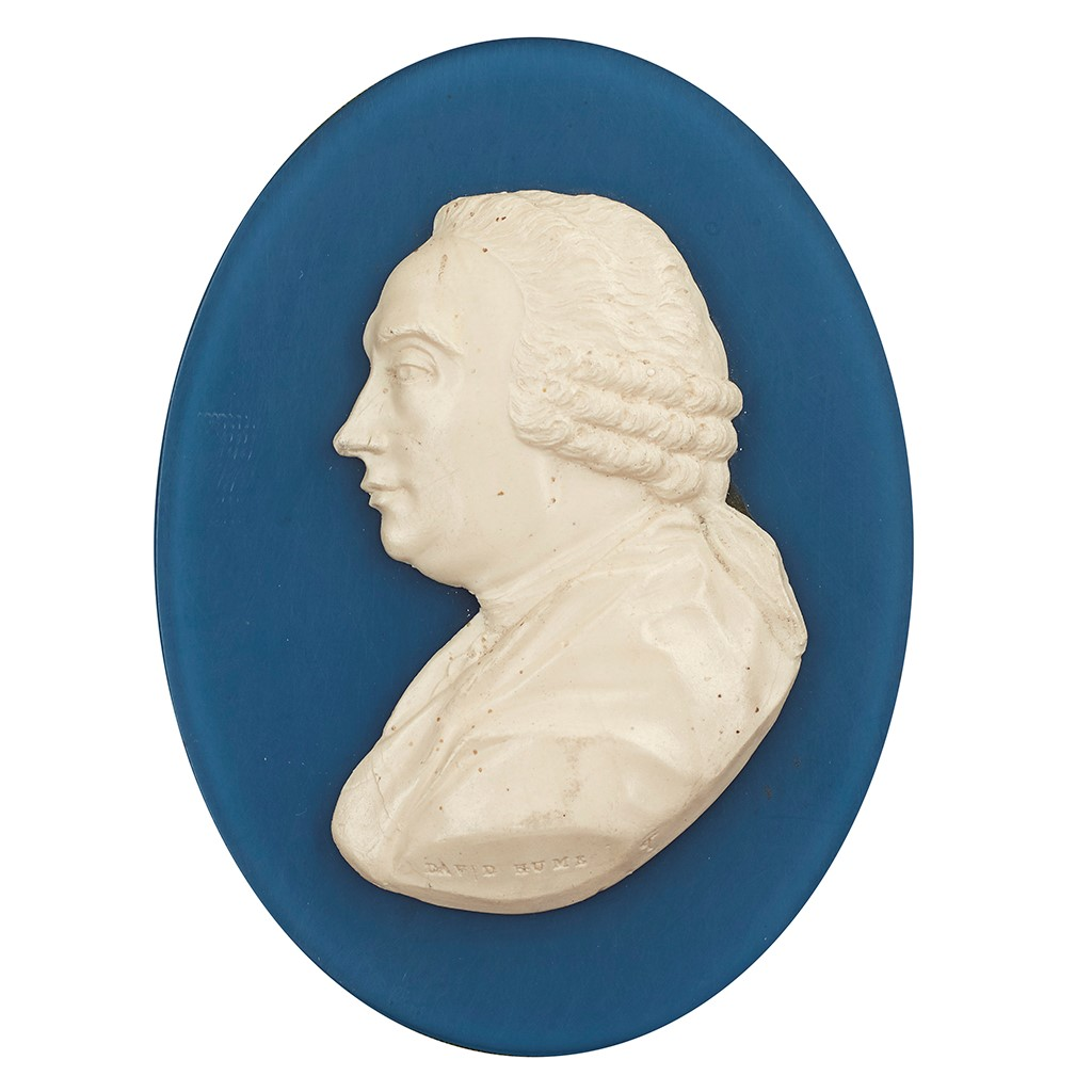 Lot 11-A PORTRAIT MEDALLION OF DAVID HUME, BY JAMES TASSIE