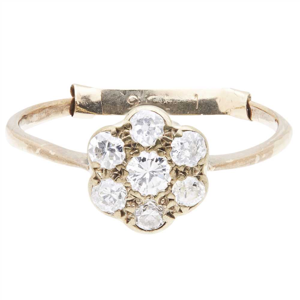 Lot 5-A diamond cluster ring