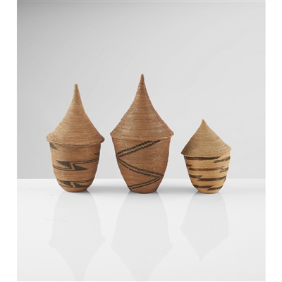 Lot 3-THREE TUTSI BASKETS