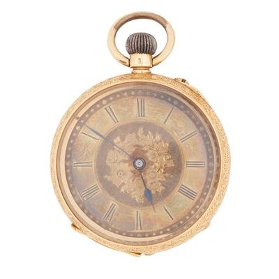 Lot 347 - An 18k cased fob watch