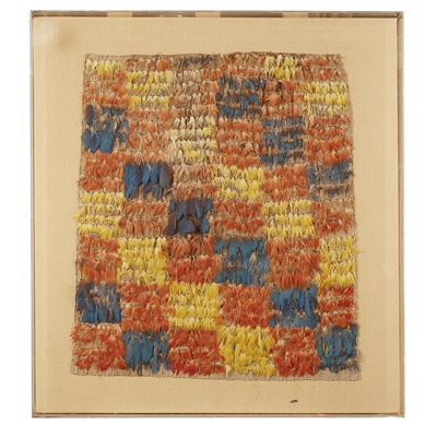 Lot 28-NASCA HUARI FEATHER PANEL