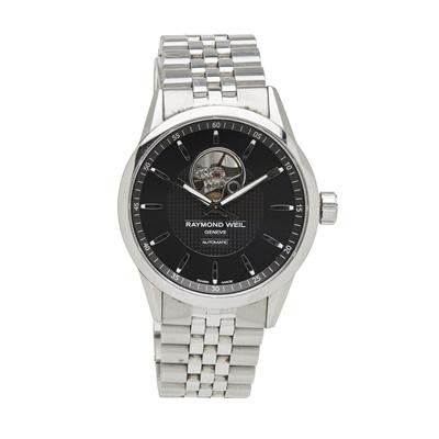 Lot 332 - A gentleman's stainless steel wrist watch, Raymond Weil