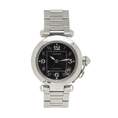 Lot 313 - A stainless steel wrist watch, Pasha de Cartier