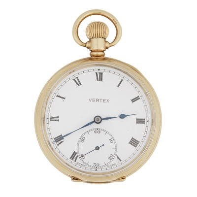 Lot 352 - A 9ct gold cased pocket watch, Vertex