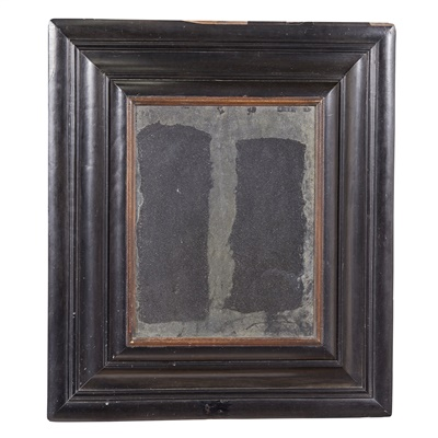 Lot 2-CONTINENTAL BAROQUE EBONY MOULDED MIRROR