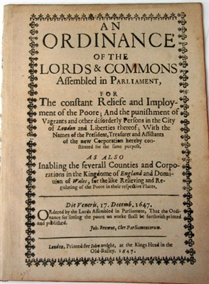 Lot 63-THE POOR AND POOR LAWS, 4 VOLUMES