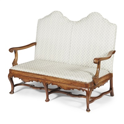 Lot 14-QUEEN ANNE STYLE DOUBLE CHAIRBACK SOFA, MORISON & CO., EDINBURGH