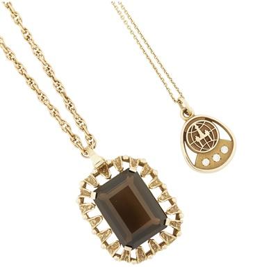 Lot 69-Two gem set pendants