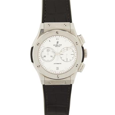 Lot 317 - A gentleman's stainless steel chronograph, Hublot