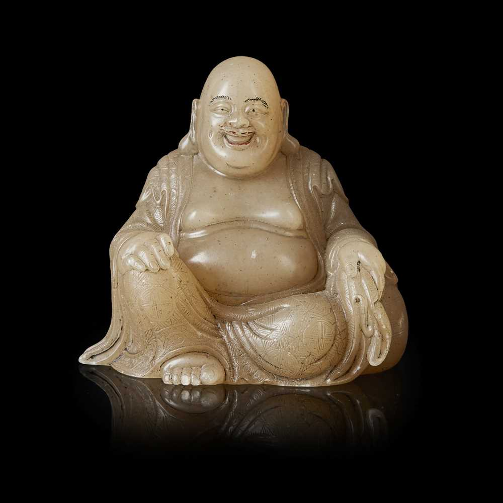 Lot 106 - SOAPSTONE CARVING OF BUDAI