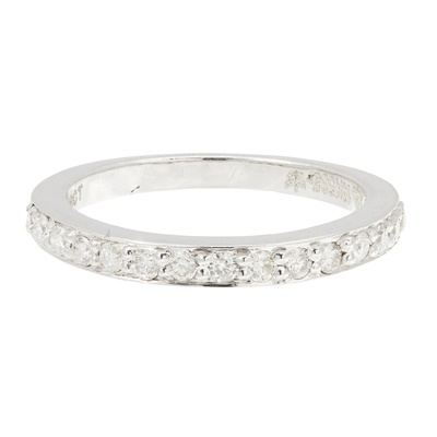 Lot 20-A diamond set half eternity ring