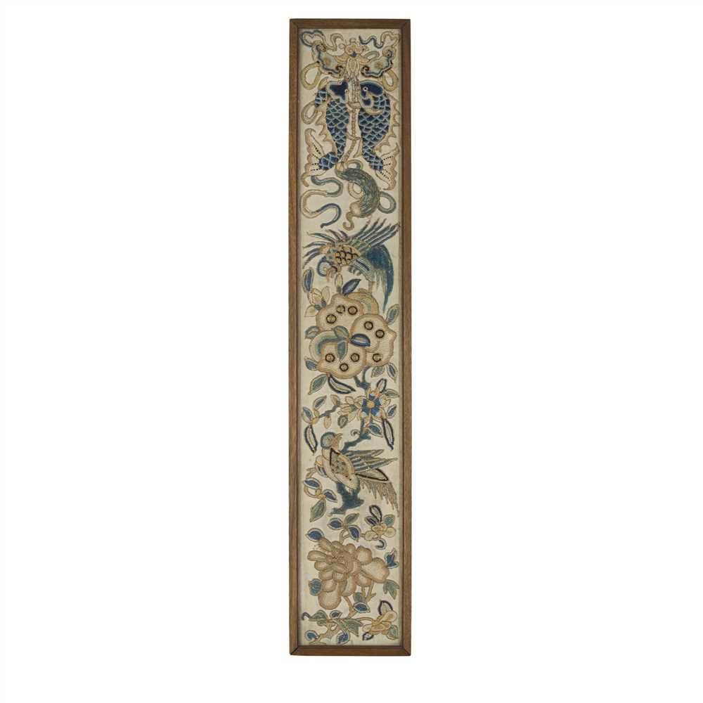 Lot 19-LONG EMBROIDERED PANEL