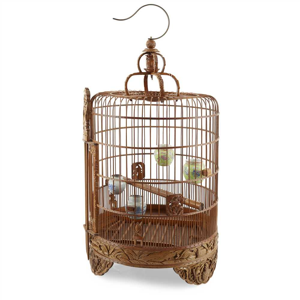 Lot 9 - BAMBOO BIRD CAGE