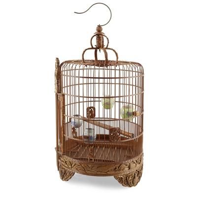 Lot 9-BAMBOO BIRD CAGE