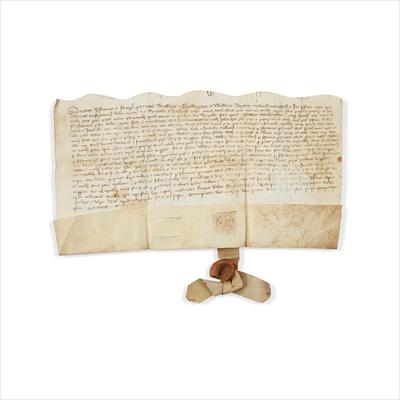 Lot 240 - Somerset - Indenture agreement William Drulkinyng, William Porant