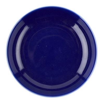 Lot 168 - BLUE-GLAZED SHALLOW DISH
