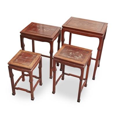 Lot 5-SET OF FOUR HONGMU NESTING TABLES