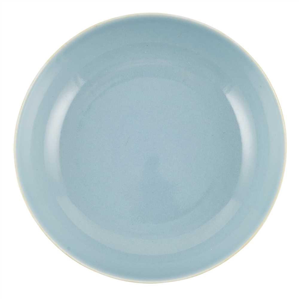 Lot 157 - SKY-BLUE-GLAZED DISH