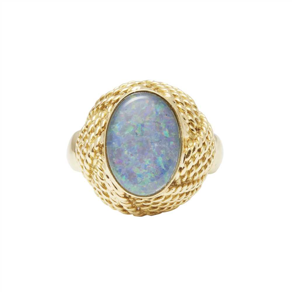 Lot 24-A opal set cocktail ring