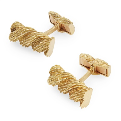 Lot 128 - A pair of French cufflinks, Van Cleef & Arpels