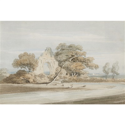 Lot 6-THOMAS GIRTIN (BRITISH 1775-1802)