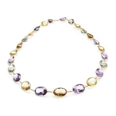 Lot 93 - A multi-gem set necklace