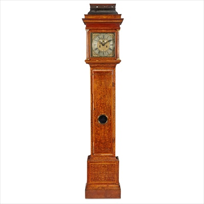Lot 12-QUEEN ANNE SEAWEED MARQUETRY LONGCASE CLOCK, JASPER TAYOR, LONDON