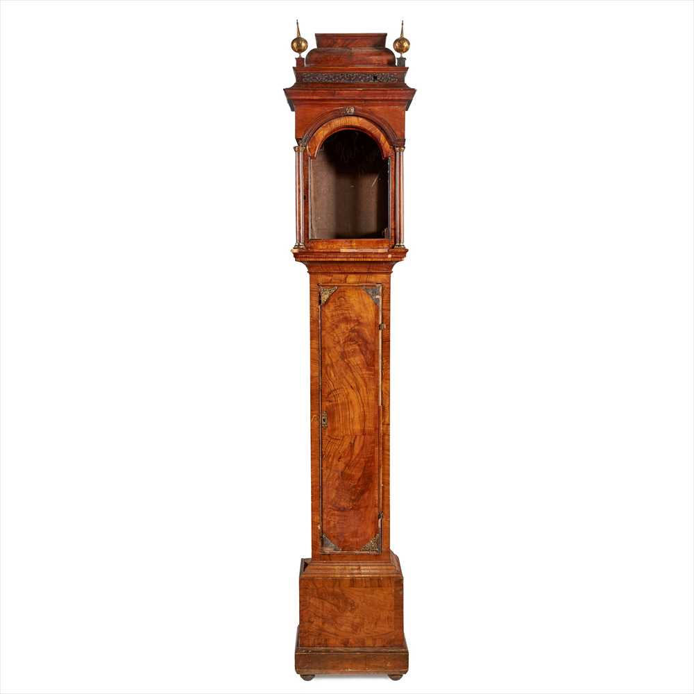 Lot 10-GEORGE I WALNUT LONGCASE CLOCK CASE