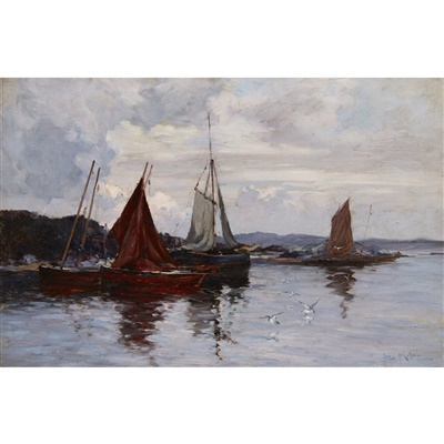 Lot 2-Joseph Milne (Scottish 1857-1911)