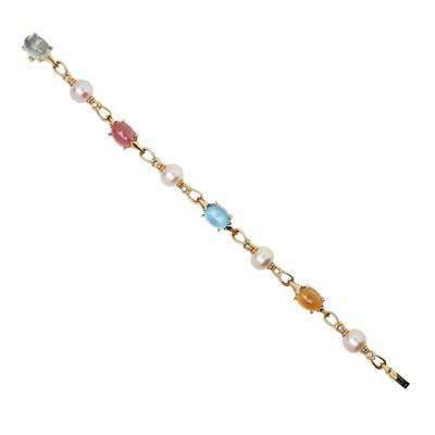 Lot 69 - A multi-gem set bracelet, Bulgari