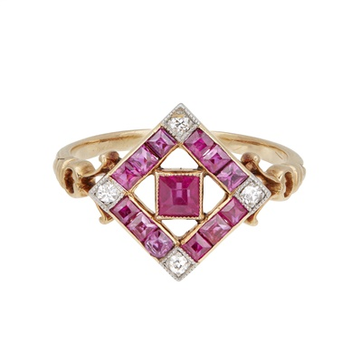 Lot 89 - A ruby and diamond set ring