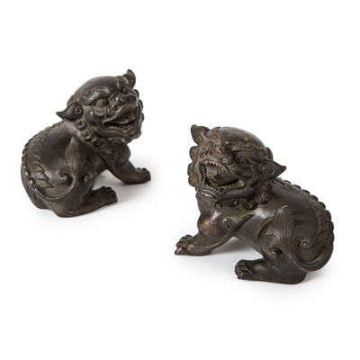 Lot 57 - PAIR OF BRONZE 'LION' PAPERWEIGHTS