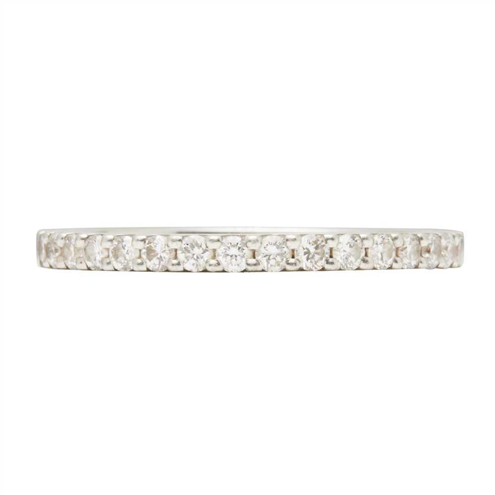 Lot 15-A diamond set half eternity ring
