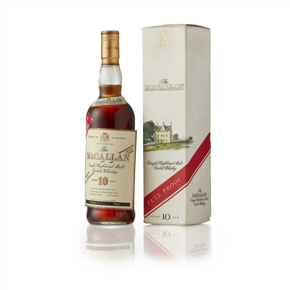 Lot 21-THE MACALLAN 10 YEAR OLD 100 PROOF (1980S)