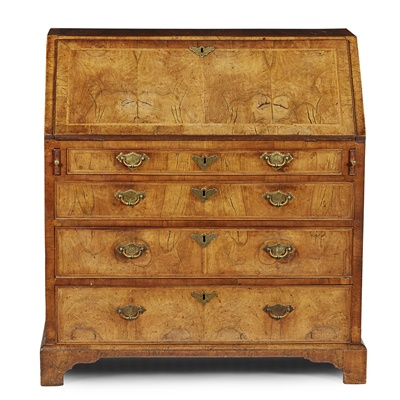 Lot 17-GEORGE I WALNUT BUREAU