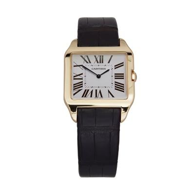 Lot 147 - An 18ct gold cased wristwatch, Cartier