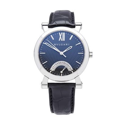Lot 141 - A stainless-steel cased wristwatch, Bulgari