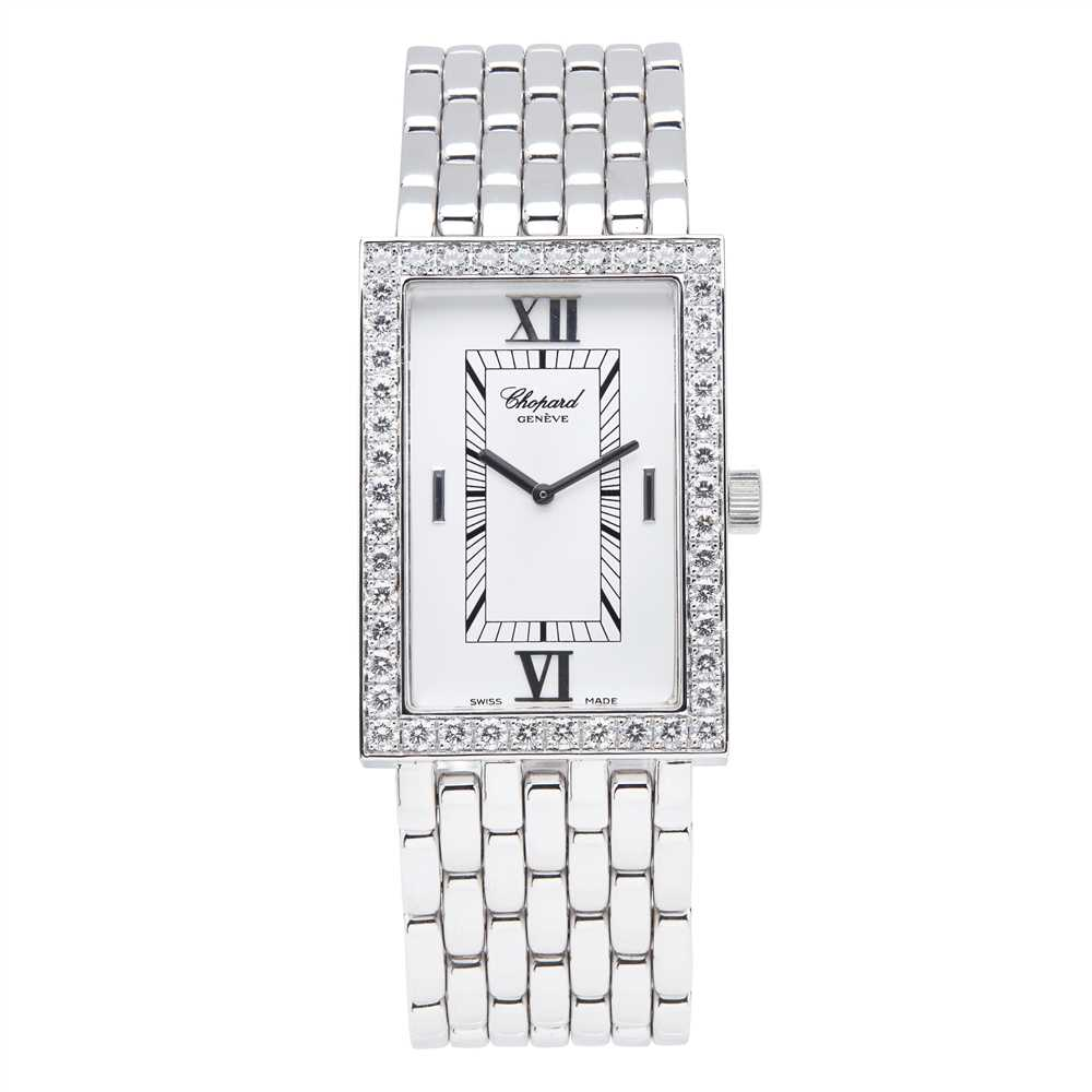 Lot 145 - An 18ct white gold and diamond set wristwatch, Chopard