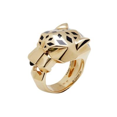 Lot 140 - An 18ct gold Panthère de Cartier gem set ring, Cartier