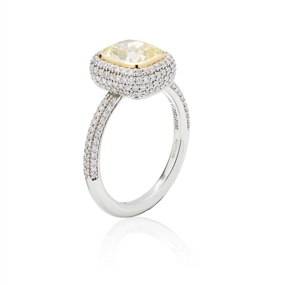 Lot 23-A platinum yellow and colourless diamond ring, Tiffany & Co