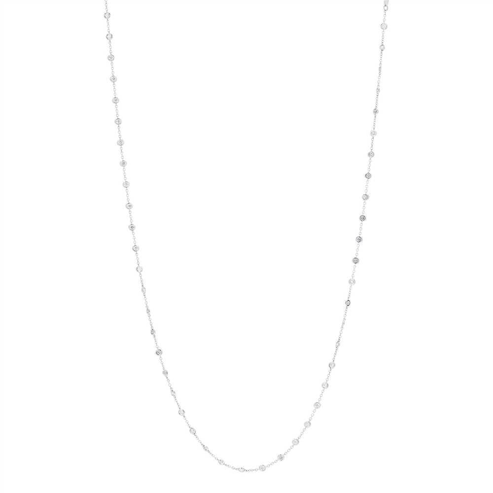Lot 28-A diamond set long-chain necklace