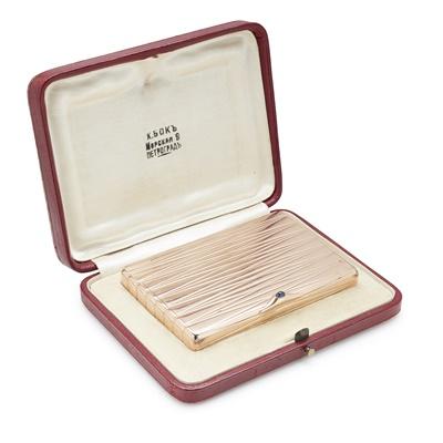 Lot 125 - A Russian gold cigarette case
