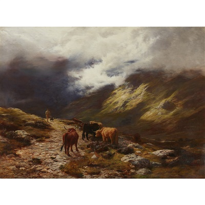 Lot 36-Peter Graham R.A., H.R.S.A (Scottish 1836-1921)
