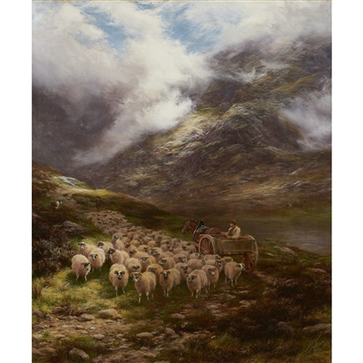 Lot 37-Peter Graham R.A., H.R.S.A (Scottish 1836-1921)