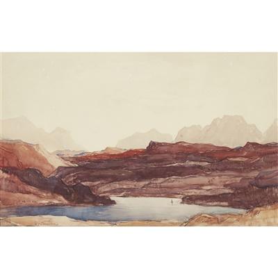 Lot 17-Sir David Young Cameron R.A., R.S.A., R.W.S., R.S.W., R.E. (Scottish 1865-1945)