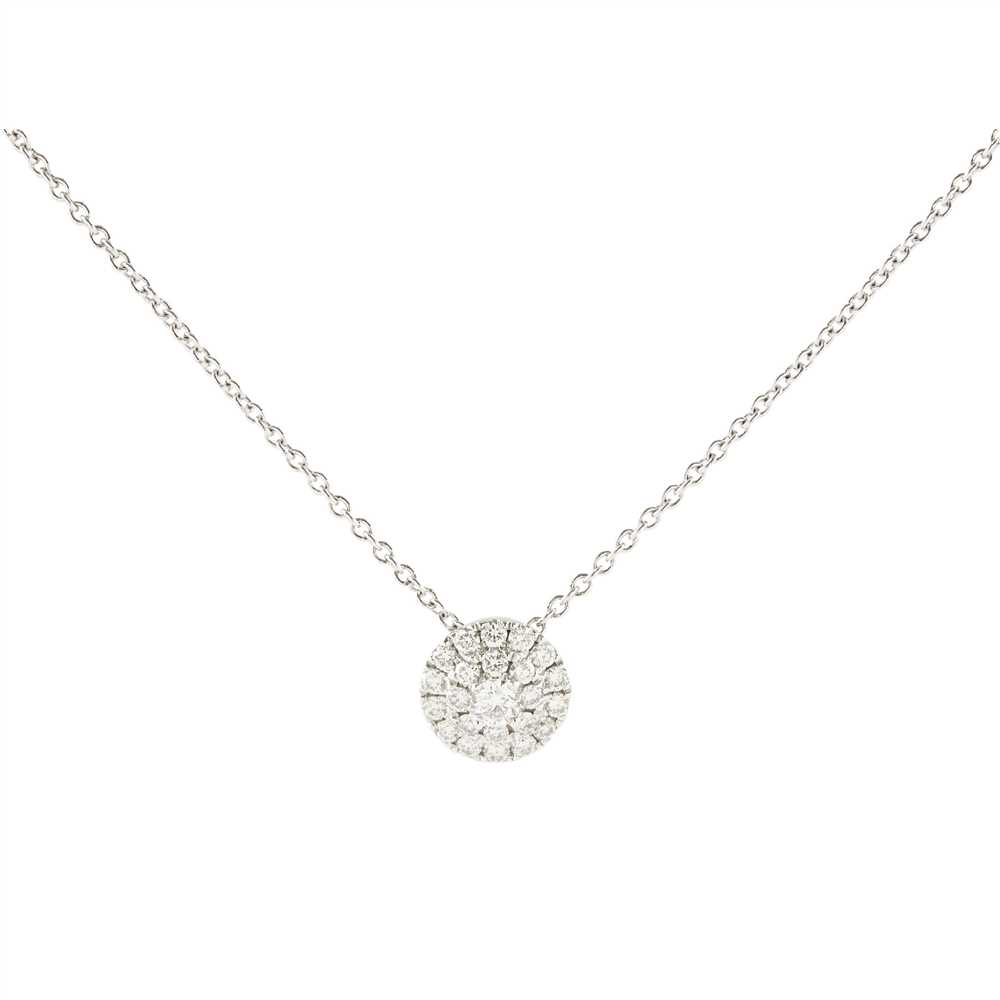 Lot 17-A diamond set pendant