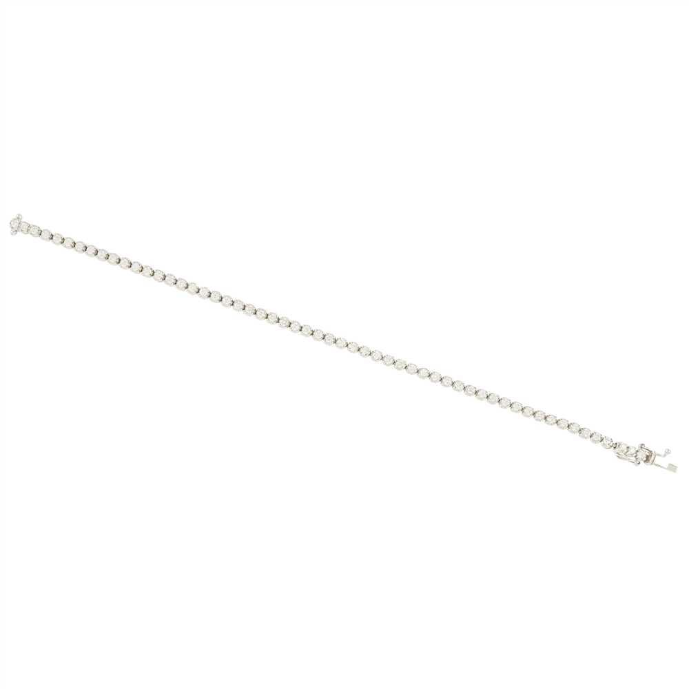 Lot 18-A diamond set line bracelet