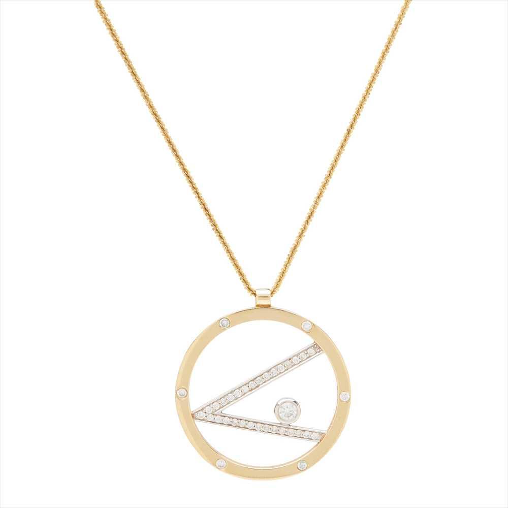 Lot 46 - A modern diamond set pendant